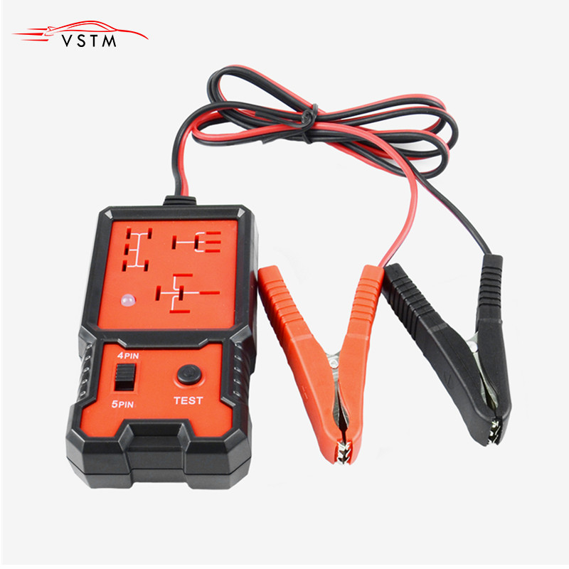 NEW Automotive Electronic Relay Tester Alligator Clip Car Tester Diagnostic Tool For 12V Car