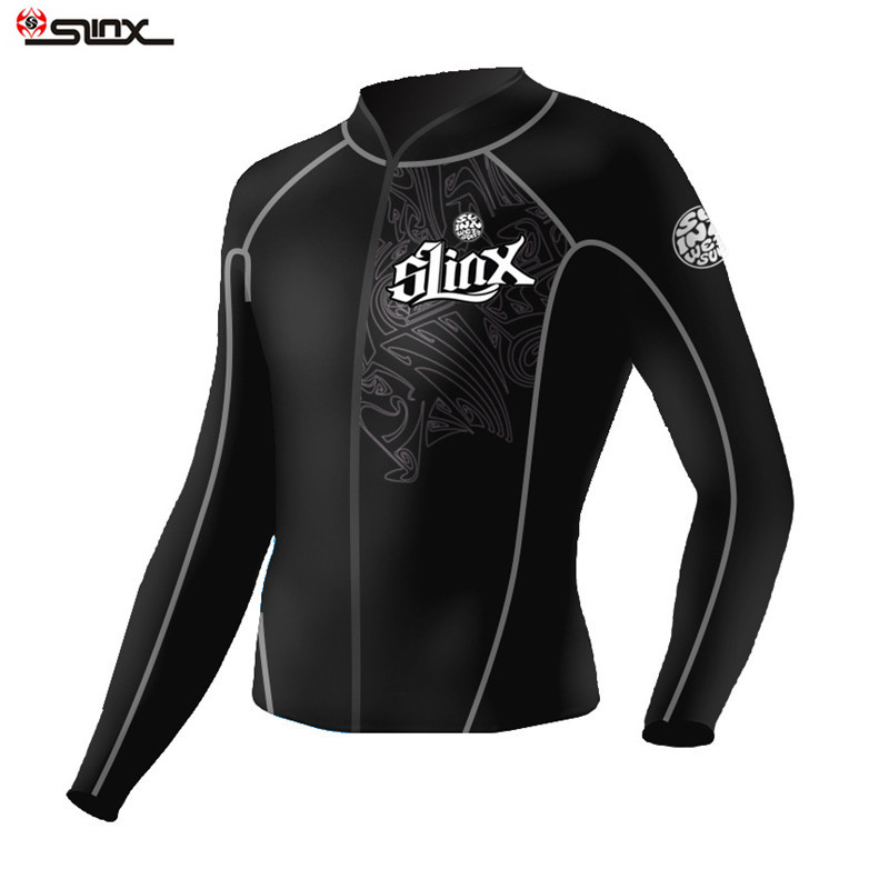 SLINX 2mm Neoprene Long Sleeve Man Wetsuit Jacket Scuba Diving Wet Suit Surfing Rafting Warm Bodysuit Swimwear Diving Equipment slinx 3mm neoprene long sleeve men wetsuit diving suit winter swimming surfing full bodysuit swimwear diving free shipping
