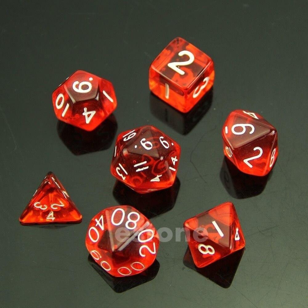 7 шт./компл. кубик Д4 д6 д8 д10 д12 подземелья и драконы D и D Д20 РПГ игры в кости