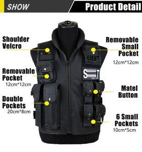 Image 2 - Тактический жилет с 11 карманами для мужчин, Охотничий Жилет для улицы, военный тренировочный жилет, защитный модульный жилет безопасности