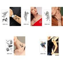 glaryyears Small Arm Temporary Tattoo Sticker Cool Fake Line Tatoo Wolf Flash Tatto Waterproof Small Body Art Men Women XKM 2019