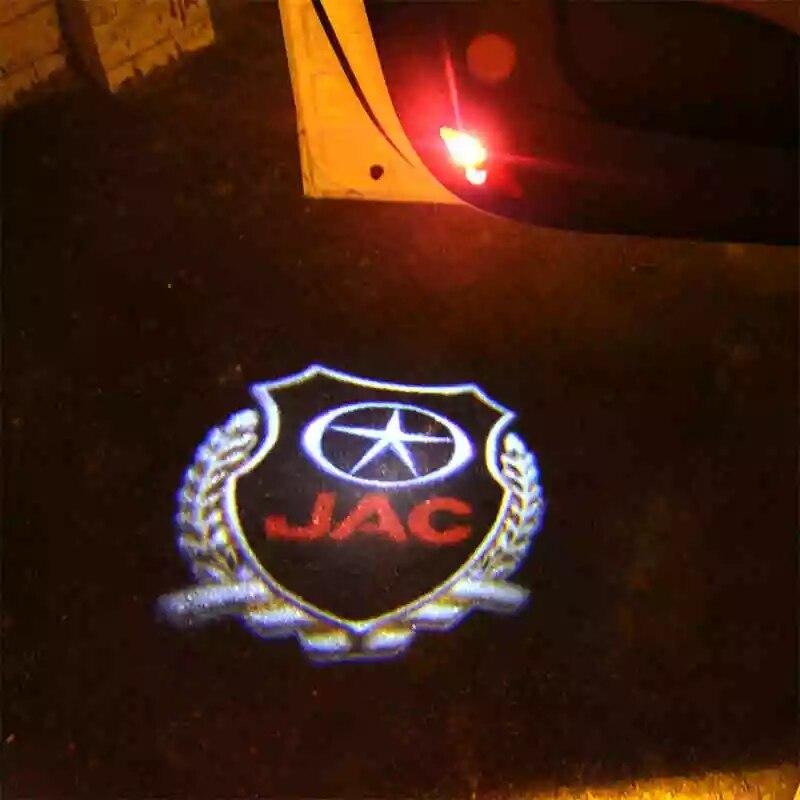 Luzes de boas-vindas dedicadas do carro, modificação das luzes da porta para jac t6, jac s5, 2 peças/lote