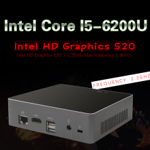 Intel I5 6200U Mini PC Windows 10 Настольный компьютер NUC карман ПК Barebone система неттоп Skylake HD520 графика 4 К Bluetooth, Wi-Fi