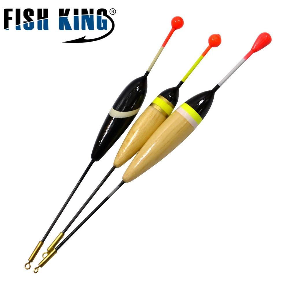 FISH KING 10pcs/Lot 2g 2.5g Float Bobbers Balsa Fishing Floats Boyas Pesca For Fishing Tackle Tools Pescaria Acessorios