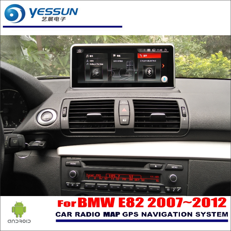 YESSUN 10 inch HD Screen For BMW E82 2007~2012 Car Android Radio Stereo Audio Video Player GPS Navigation Media No DVD yessun for mazda cx 5 2017 2018 android car navigation gps hd touch screen audio video radio stereo multimedia player no cd dvd