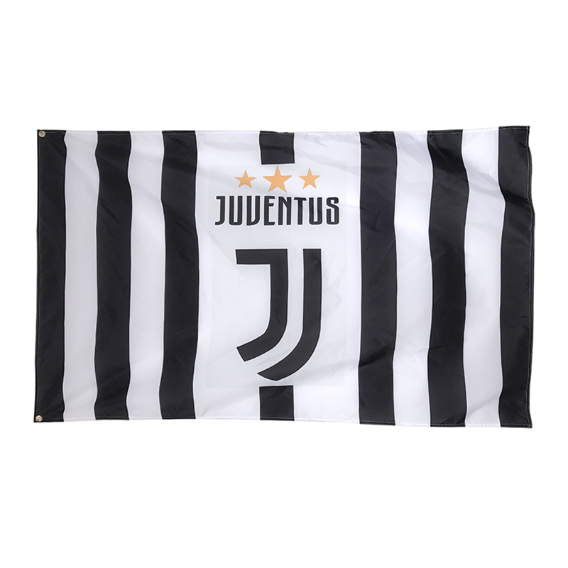Italian Juventus 3ft*5ft 90*150cm flag football flags sports custom team flags Size banner Dec