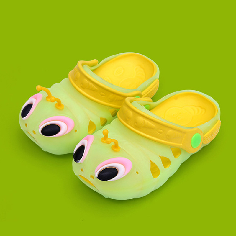 Kids Boy Girl Cartoon Funny Sandals 2019 Summer Toddler Baby Cute Beach Shoes Children Caterpillar Slippers for 1 2 3 4 5 6 Year(China)