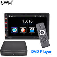SWM 7 2 Din Car Radio Stereo DVD Multimedia Player D BUS Mirror Link Bluetooth CD DVD Autoradio Audio Radio Coche 2din FM