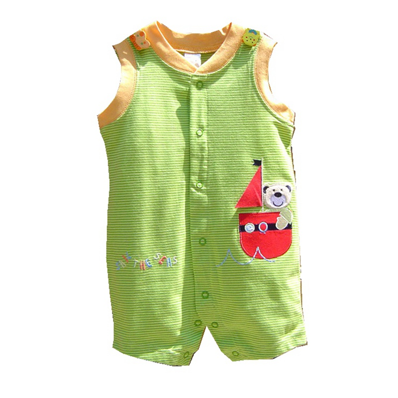 sail the seas green stripes baby boy romper jumpsuit. Black Bedroom Furniture Sets. Home Design Ideas
