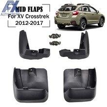 Hacha para Subaru XV Crosstrek 2013 - 2017 Mudflaps Splash guardias solapa guardabarros delantero trasero 2014 - 2016 aletas de barro moldeadas