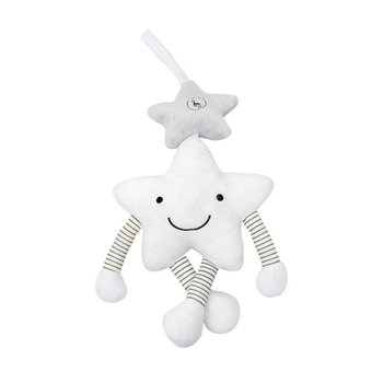 White five-star vocal bell Baby bed Car hanging Rattle Stick Stuffed Plush Doll Toy Toys Puzzle Infant Puppet