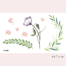 Wyuen Watercolor Flower Waterproof Temporary Tattoo Stickers For Adults Kids Body Art Fake Tatoo For Women Men Tattoos P-084