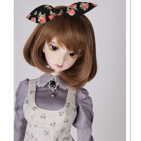 Fashion BJD Wig 1/3 1/4 1/6 BJD Doll Wigs for Dolls Accessories,Beautiful Short Synthetic Doll Hair for Dolls Toys Accessories