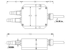 Image 3 - 0 5V/ 4 20mA Wind pressure transducer 8mm pagoda Air pressure transmitter 0 100Pa.... 10kPa micro differential pressure sensor