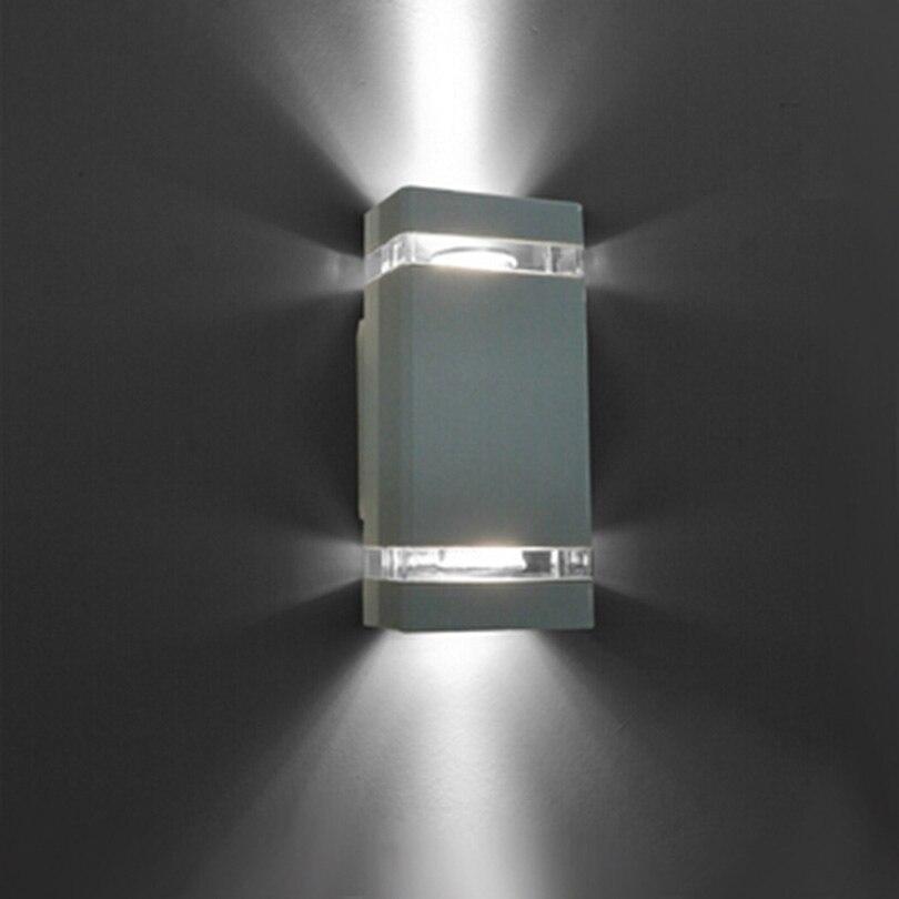 1 pcs/lot LED étanche extérieur moderne applique murale montée 8 W AC85-265V IP54 aluminium applique extérieure porche éclairage