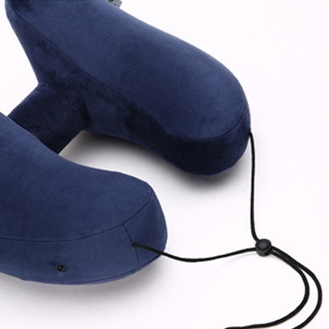 GT H Shape Inflatable Travel Pillow Air Cushion Folding Lightweight Nap Neck Pillow Car Seat office Airplane sleeping Cushion 2