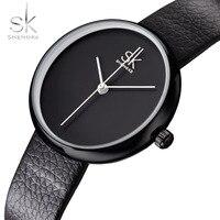 Shengke Women S Watches Top Brand Genuine Leather Watch Fashion Simple Ladies Watch Women Watches Bayan