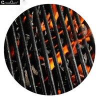 60*60 CM simulación puerta mat ambiental de transferencia térmica de carbón pequeño aseo material de alfombra de goma impermeable antideslizante estera