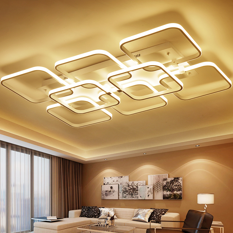 Buy Square Surface Mounted Modern Led Ceiling Lights For Liv