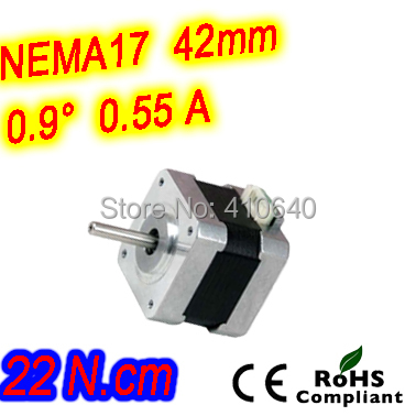 цена на 12 pieces per lot step motor 17HM13-0554S L 34 mm Nema17 with 0.9 deg 0.55 A 22 N.cm and bipolar 4 lead wires