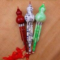 Chinese Cucurbit Flute Hulusi Resin Gourd Flauta Hulusi C/ Bb Key Imitation Greenstone Calabash Flute Hulusi Folk Instrument