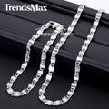 Trendsmax Snail Link WHITE Gold Filled Chain Necklace Womens Mens Chain Girls Boys Unisex Wholesale Jewelry GS243
