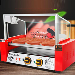 Electric Sausage Baking Machine Commercial Sausage Maker Automatic Mini Dual Control Temperature WY-007