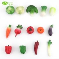 pvc figure Simulation fruits and vegetables cabbage cauliflower chili radish eggplant garlic pepper pumpkin tomato toy model