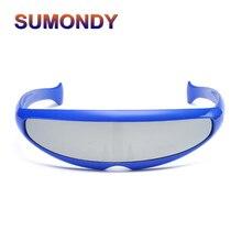 98f33f2d6 SUMONDY X-الرجال الأزياء الأسماك على شكل النظارات الشمسية الرجال النساء  شخصية الليزر ييويرس بارد