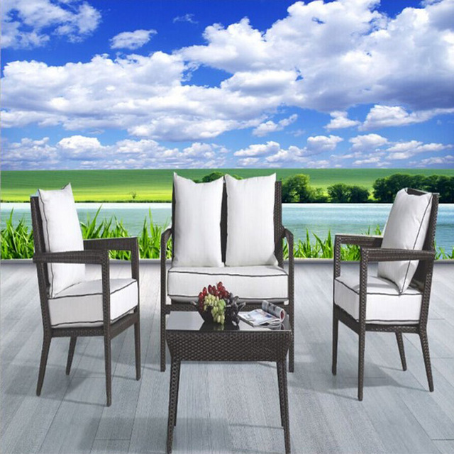 Dise o 3d del paisaje papel pintado natural de calidad - Papel pintado aislante termico ...