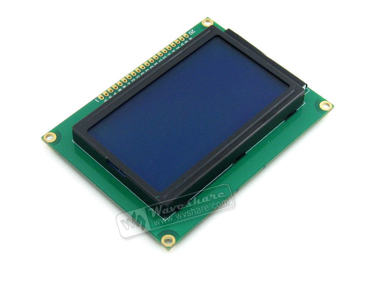 LCD12864-ST (3.3V Blue Backlight) # 12864 128*64 Graphic Matrix LCM LCD Module Display TN/STN White Character 3.3V Logic Circuit