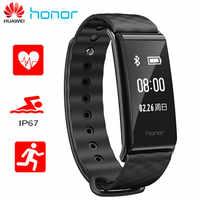 En Stock Original Huawei Honor A2 pulsera inteligente 0,96 pantalla OLED pulso Monitor de ritmo cardíaco Mostrar mensaje de llamada de rechazo IP67