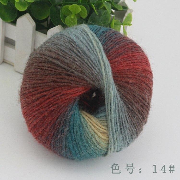 corante lã roving fio para a mão tricô suéter cachecóis