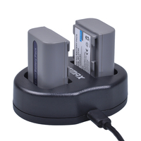 Bateria batmax 1250mah npfp50  akku + carregador duplo usb para sony NP-FP50 NP-FH30 NP-FH40 NP-FH50 NP-FH60