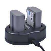 Batmax 1250mAh NP-FP50 NPFP50 Batterie akku + Double Chargeur USB pour Sony NP-FH30 NP-FH40 NP-FH50 NP-FH60 NP-FH70 NP-FH90 NP-FP30