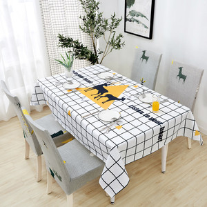 Image 5 - Parkshin 2019 Fashion Nordic Waterproof Tablecloth Home Kitchen Rectangle Table Cloths Party Banquet Dining Table Cover 4 Size