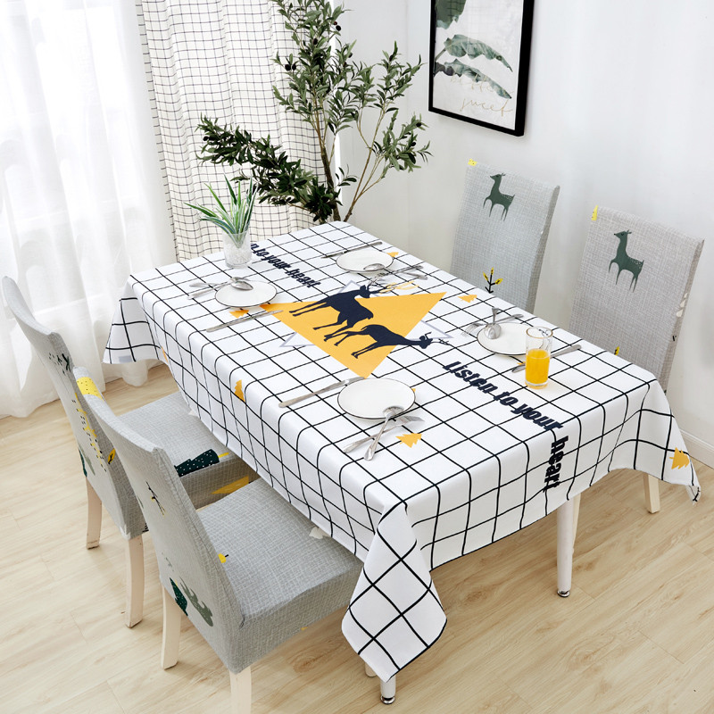 Image 5 - Parkshin New Wholesale Nordic Waterproof Tablecloth Home Kitchen Rectangle Table Cloths Party Banquet Dining Table Cover 4 Size-in Tablecloths from Home & Garden
