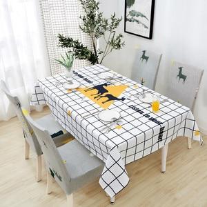 Image 5 - Parkshin Yeni Toptan İskandinav Su Geçirmez Masa Örtüsü Ev Mutfak Dikdörtgen Masa Örtüleri Parti Ziyafet yemek masası Kapak 4 Boyutu