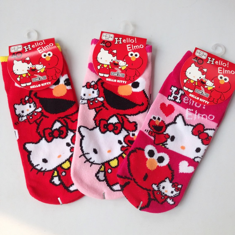 Hello kitty cosplay cartoon   socks   cute frog fashion casual jacquard women   sock   summer comfortable cotton medias cortas de mujer
