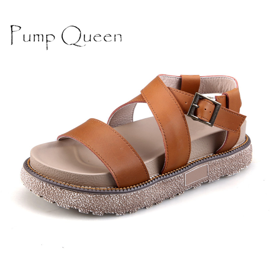 ... Shoes Sandals Peep toe Flat Open Toe PU Leather Roman Female Casual Sandals  Shoes Plus Size-in Middle Heels from Shoes on Aliexpress.com | Alibaba Group
