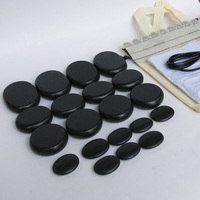 Best Selling 20pcs Set Hot Stone Massage Body Massage Stone Set Salon SPA With Heater Bag