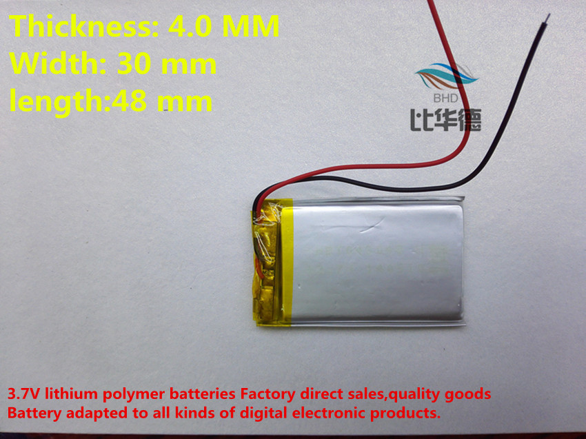 (free shipping)Battery 043048 600mah lithium-ion polymer battery quality goods quality of CE FCC ROHS certification authority тостер delonghi ctj 2003 w