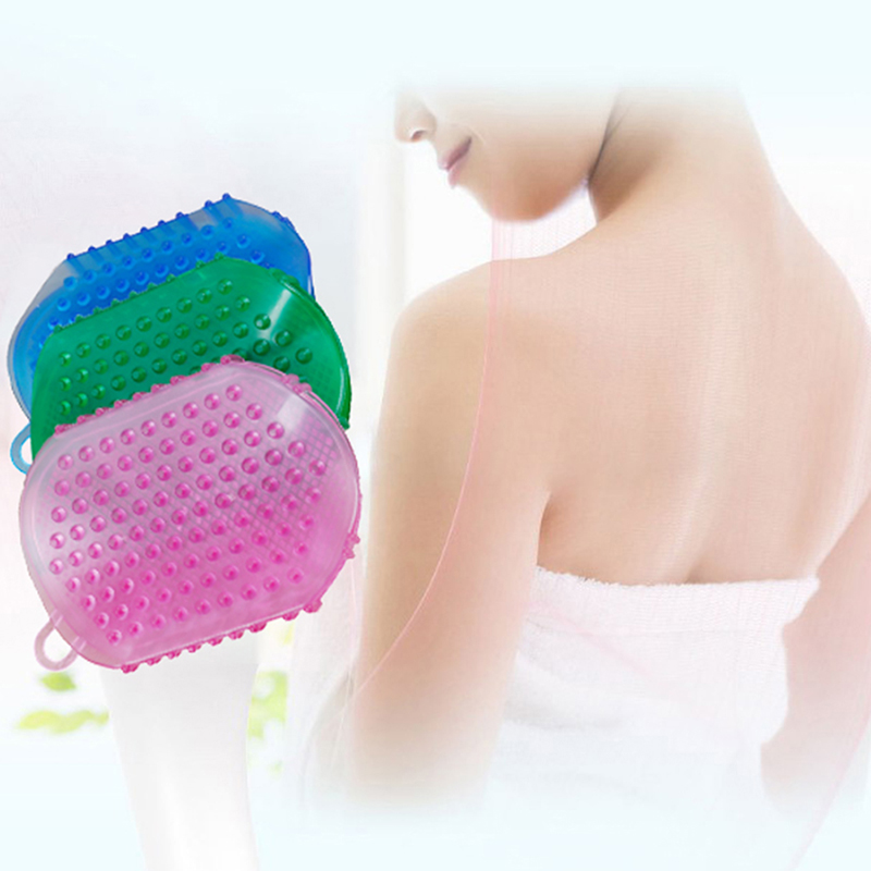 1pc Silicone Massage Scrub Gloves For Peeling Body Bath Brush Exfoliating Gloves
