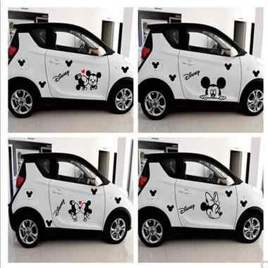 Adesivo de carro bonito dos desenhos animados personalidade modificado criativo porta do carro corpo decoração puxar flor scratch adesivos de carro adesivos-451
