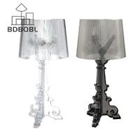 BDBQBL Modern Acrylic Table Lamp Light LED Lamp Loft Bedroom Living Room Modern Desk Lamp Lampshade