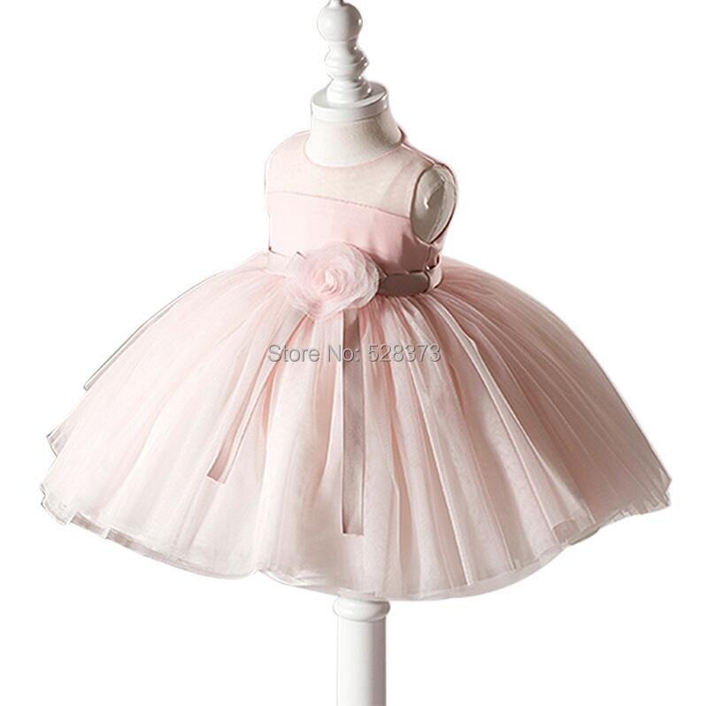 YNQNFS FG8   Flowers   Belt Organza Ruffles Pink Princess   Flower     Girl     Dresses   Party   Dress   for Weddings