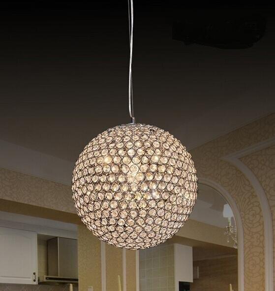 K9 кристалл Открытый Подвесные Светильники спальня современный минималистский роскошный отель ресторан-бар хрустальный шар подвесной ламп...