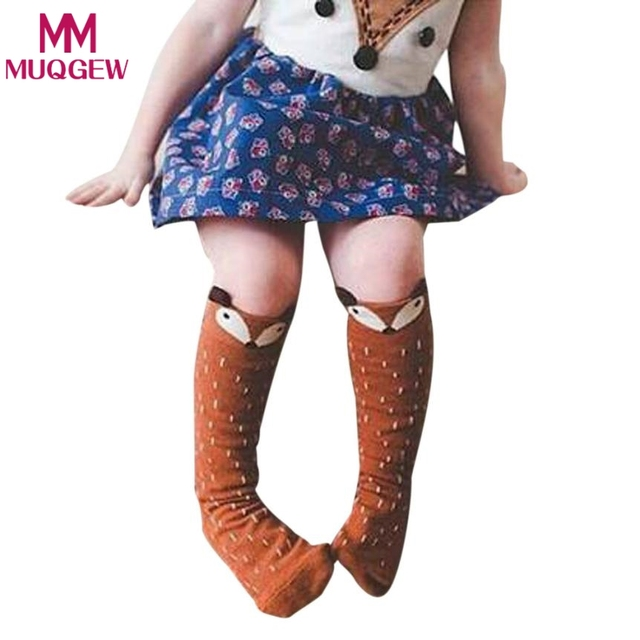 bc09c4495cc 1 Pair Unisex Lovely Cute Cartoon Fox Kids baby Tights Knee Children s  Tights Girl Boy Toddler Tights Animal Infant Soft Cotton