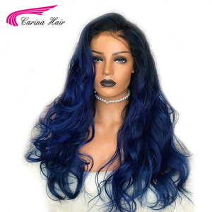 Image 2 - Carina Ombre Brazilian Lace Front Human Hair Wigs With Baby Hair Body Wave Remy Pre Plucked 13X6 Lace Front Wig For Women