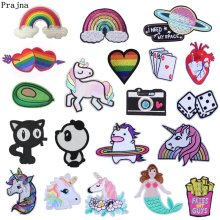 Prajna Hippie Unicorn Rainbow Patches Gay Pride Iron On For Clothing Cartoon  Embroidery Clothes Stickers Decoration DIY